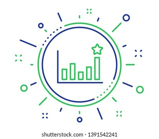 Efficacy line icon. Business chart sign. Analysis graph symbol. Quality design elements. Technology efficacy button. Editable stroke. Vector