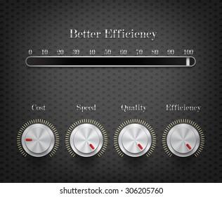 efficiency adjustable volume on dark hexagon pattern