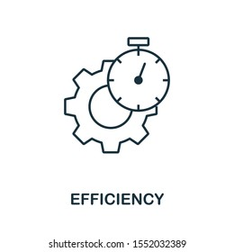 Efficiency icon outline style. Thin line creative Efficiency icon for logo, graphic design and more.