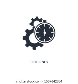 efficiency icon. simple element illustration. isolated trendy filled efficiency icon on white background. can be used for web, mobile, ui.