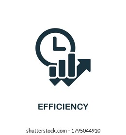 Efficiency icon. Simple element from time management collection. Creative Efficiency icon for web design, templates, infographics and more