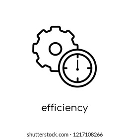 efficiency icon. Trendy modern flat linear vector efficiency icon on white background from thin line collection, outline vector illustration