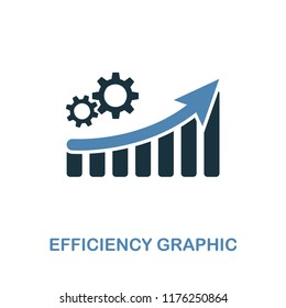 Efficiency increase Graphic icon. Monochrome style design from diagram collection. UI. Pixel perfect simple pictogram efficiency increase graphic icon. Web design, apps, software, print usage.