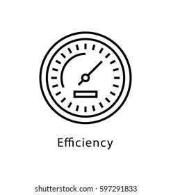 Efficiency Vector Line Icon