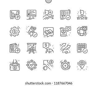 Efficiency Well-crafted Pixel Perfect Vector Thin Line Icons 30 2x Grid for Web Graphics and Apps. Simple Minimal Pictogram