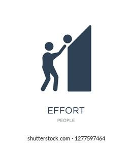 effort icon vector on white background, effort trendy filled icons from People collection, effort vector illustration