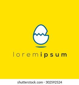 Egg form logo (sign, symbol, icon, illustration)