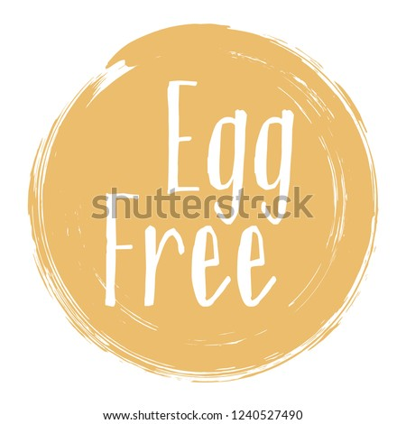 egg free icon package label vector stock vector royalty free