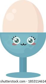 Egg in the egg holder, illustration, vector on white background