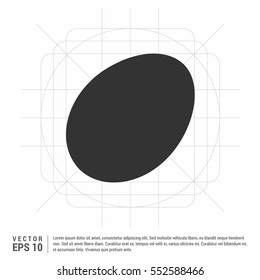 egg icon vector, solid illustration, pictogram isolated on gray