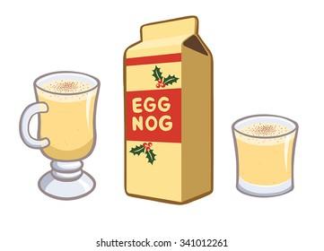 Egg Nog Set of Three - Glass, Mug, and Carton