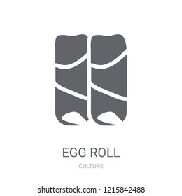 Egg Roll icon. Trendy Egg Roll logo concept on white background from Culture collection. Suitable for use on web apps, mobile apps and print media.