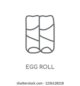 Egg Roll linear icon. Modern outline Egg Roll logo concept on white background from Culture collection. Suitable for use on web apps, mobile apps and print media.