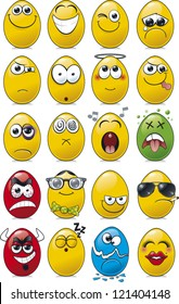 Egg shaped emoticon collection