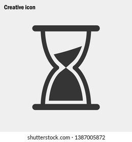 egg timer sand vector icon