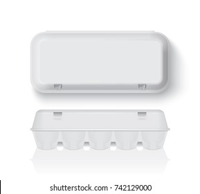 egg tray mock up vector template