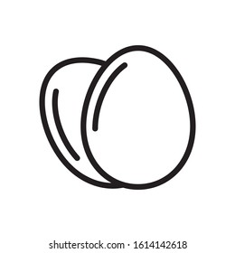 Egg vector icon isolated sketch. Various egg shapes vector icon isolated on white background