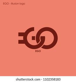 EGO logo illusion concept art