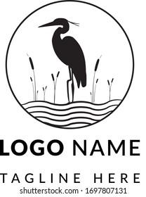 Egret Logo Design  - Egret  Vector