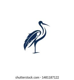 Egret logo line vector designs