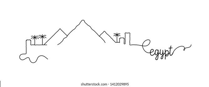 Egypt City Skyline Doodle Sign