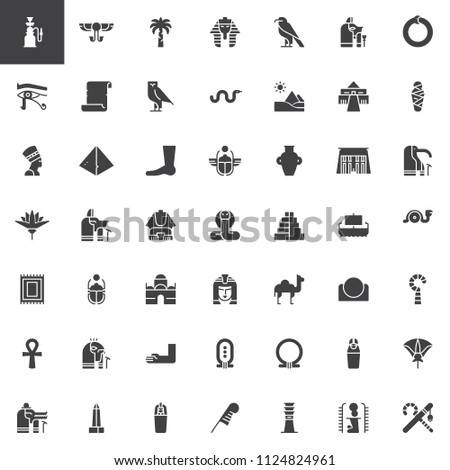 Egypt elements vector icons