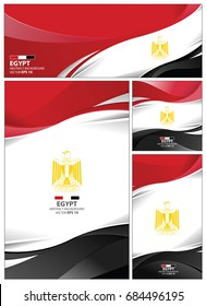 Egypt flag abstract colors background. Collection banner design. brochure vector illustration.