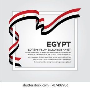 Egypt flag background