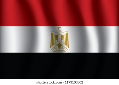 Egypt flag background with cloth texture. Egypt Flag  vector illustration eps10.