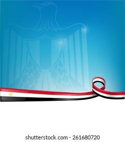 egypt flag on background