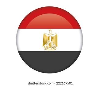 Egypt glossy round button