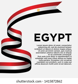 Egypt independence day with flag, vector illustration on a white background - Vector