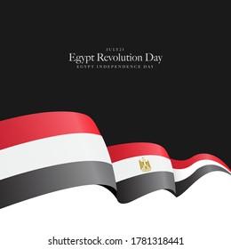 Egypt independence day, national day 23 July revolution, 6 October war - Egypt flag
