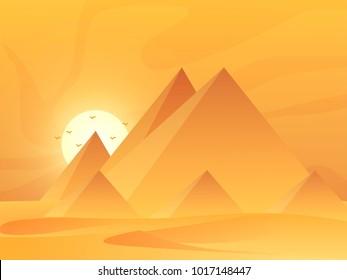 Egypt landscape ilustration