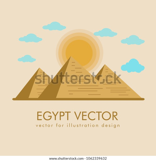 Egypt landscape vector and icon
