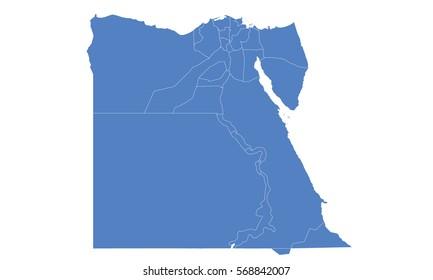 Egypt  map blue color