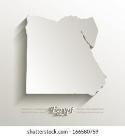 Egypt map card paper 3D natural vector