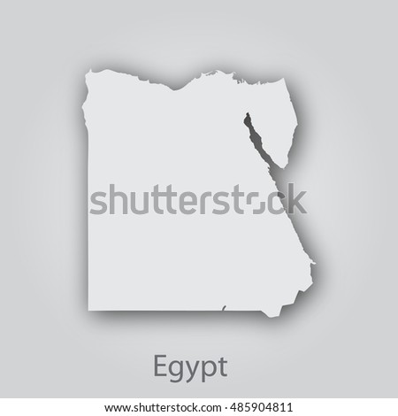 Egypt Map Paper Cut Style Abstract Modern Stock Vector Royalty Free