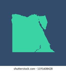 Egypt map vector