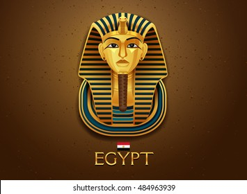 Egypt pharaoh vector illustration