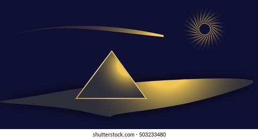 Egypt pyramid. Egypt pyramid. Gold pyramid Egypt.