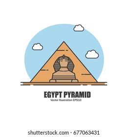 Egypt Pyramid. Landmark Concept