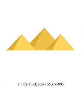 Egypt pyramids vector illustration and egypt pyramids isolated on white background