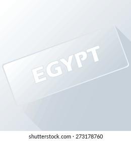 Egypt unique button for any design. Vector illustration