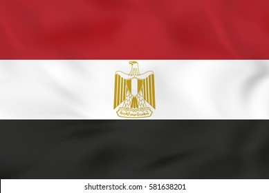 Egypt waving flag. Egypt national flag background texture. Vector illustration.