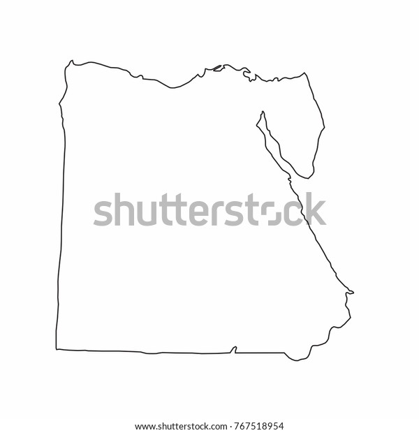 Egypt World Map Country Outline Graphic Stock Vector ...