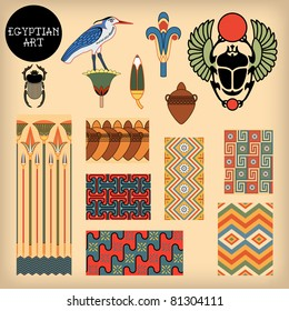 Egyptian art. Vector illustration.