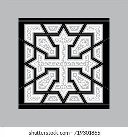 Egyptian Coptic Cross Vector Pattern for Laser cutting machines and CNC routers
