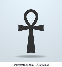 Egyptian cross, ankh symbol. Vector icon