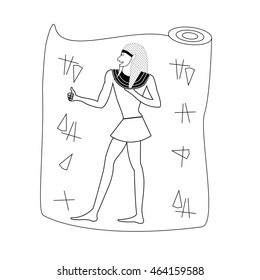egyptian does like illustration isolated in a white background